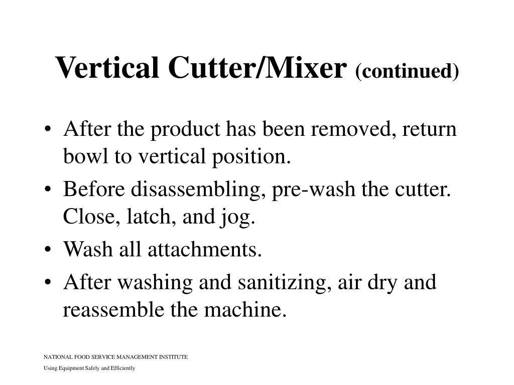 Vertical Cutter/Mixer