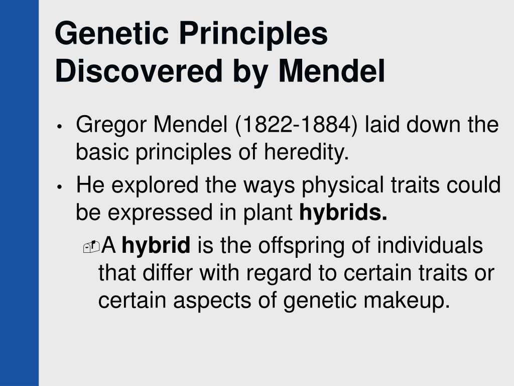 Genetic Principles