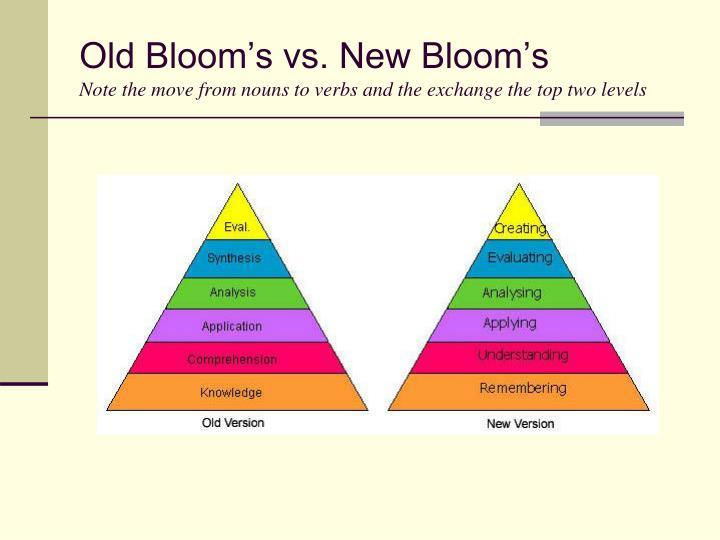 Old Bloom's vs. New Bloom's