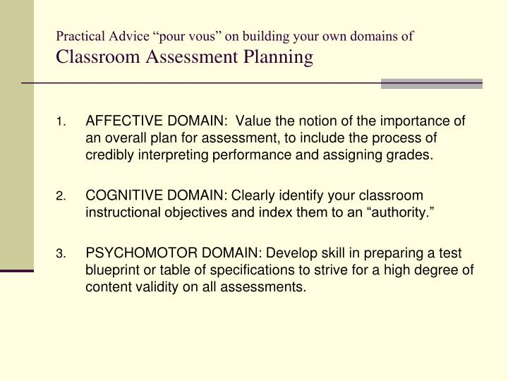 """Practical Advice """"pour vous"""" on building your own domains of"""