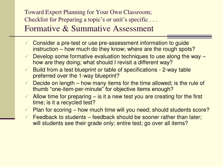 Toward Expert Planning for Your Own Classroom;