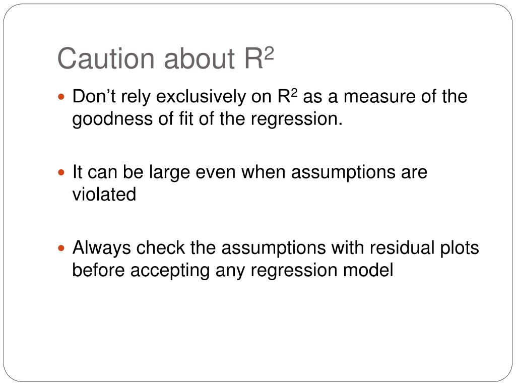 Caution about R