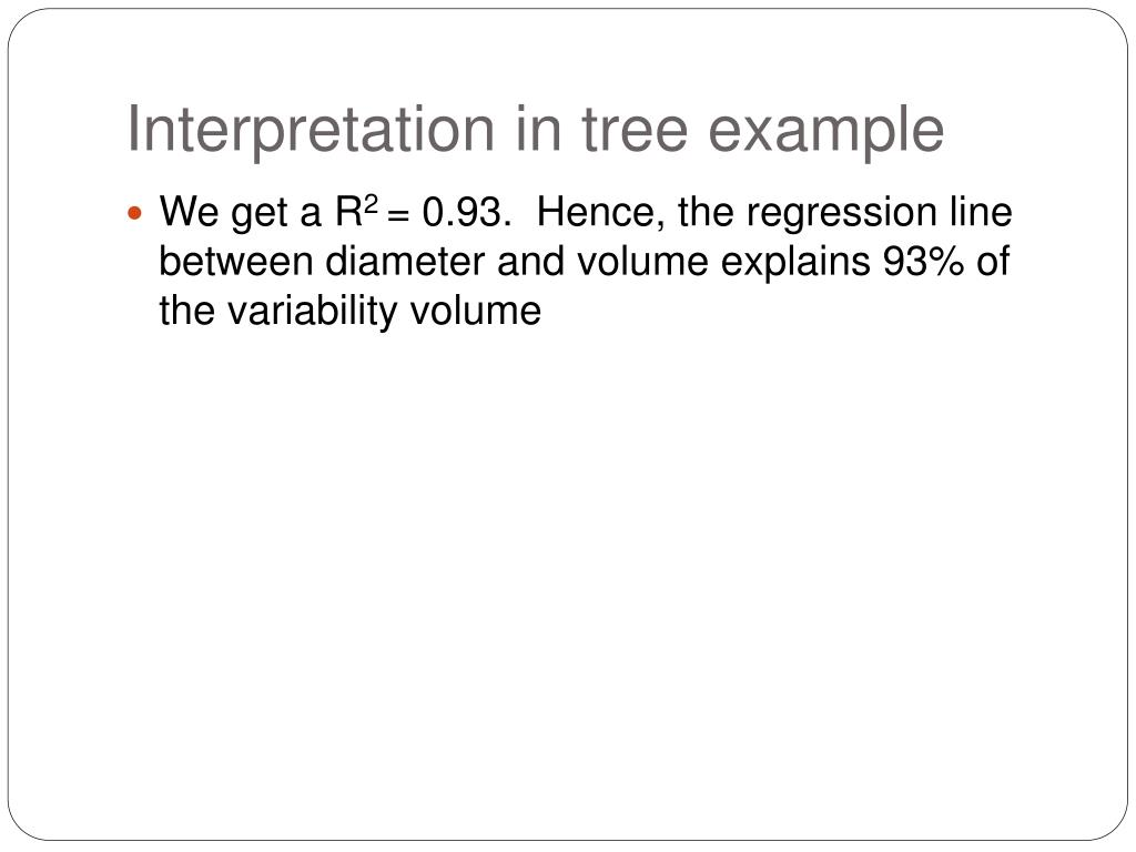 Interpretation in tree example