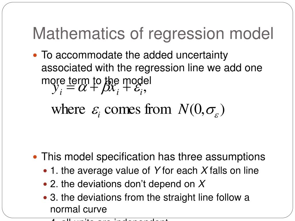 Mathematics of regression model