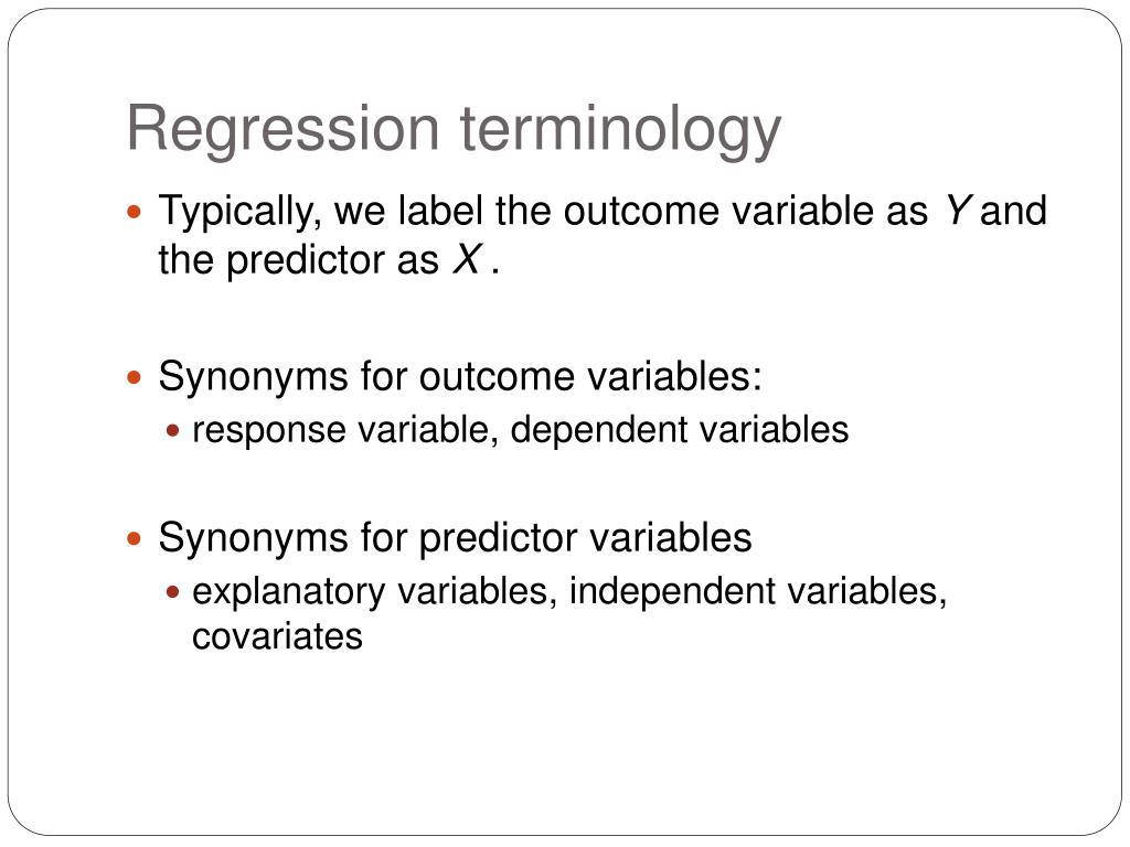 Regression terminology