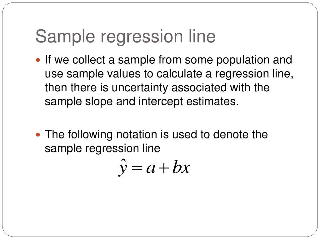Sample regression line