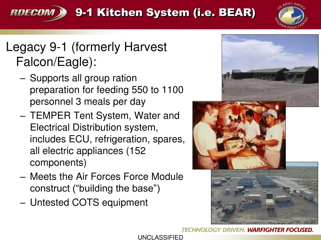 9-1 Kitchen System (i.e. BEAR)