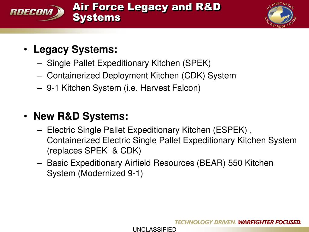 Air Force Legacy and R&D Systems
