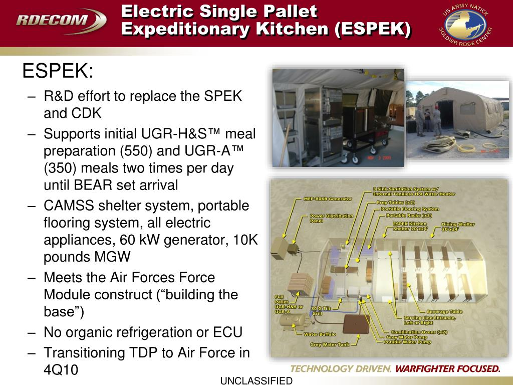 Electric Single Pallet Expeditionary Kitchen (ESPEK)