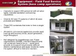 equipment field food service system base camp operations
