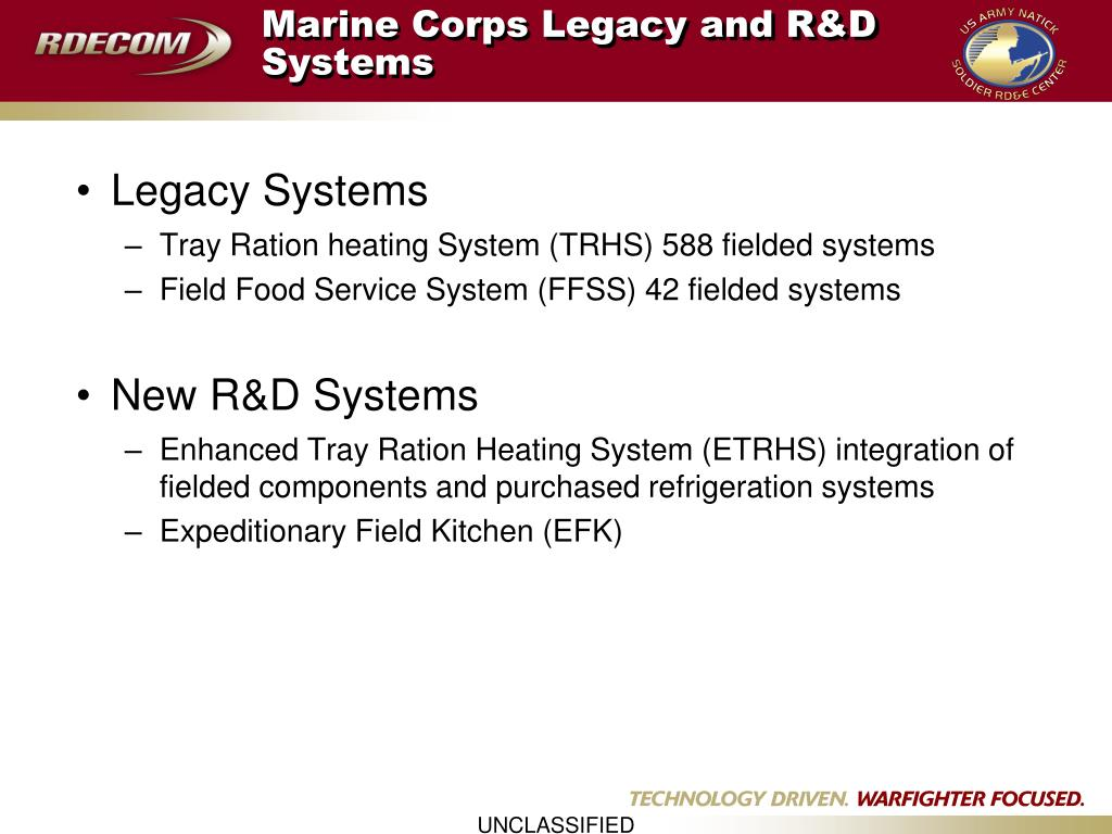 Marine Corps Legacy and R&D Systems