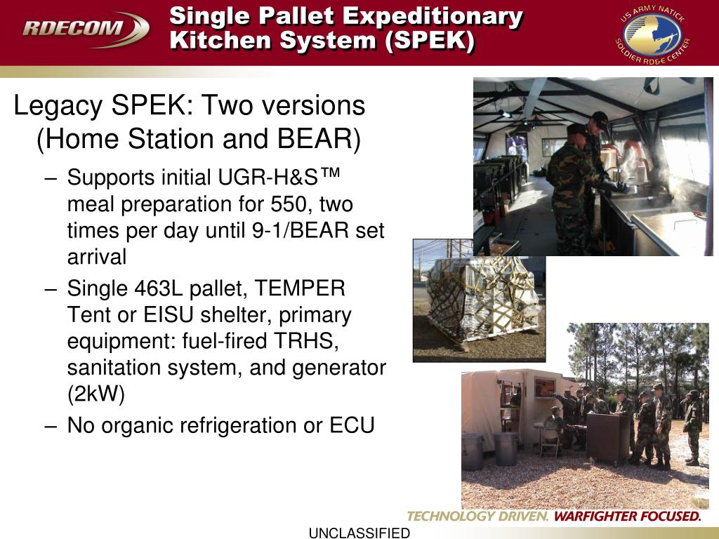 Single Pallet Expeditionary Kitchen System (SPEK)