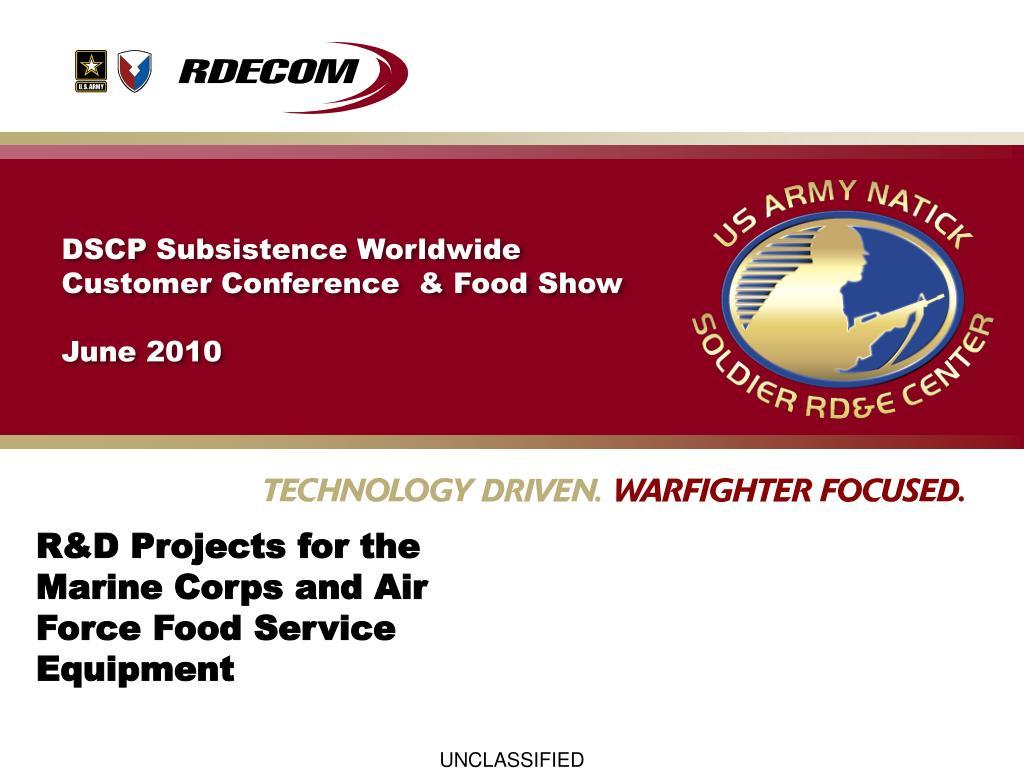 DSCP Subsistence Worldwide