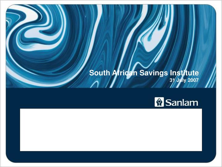 How to get sa to save jac laubscher group economist sanlam
