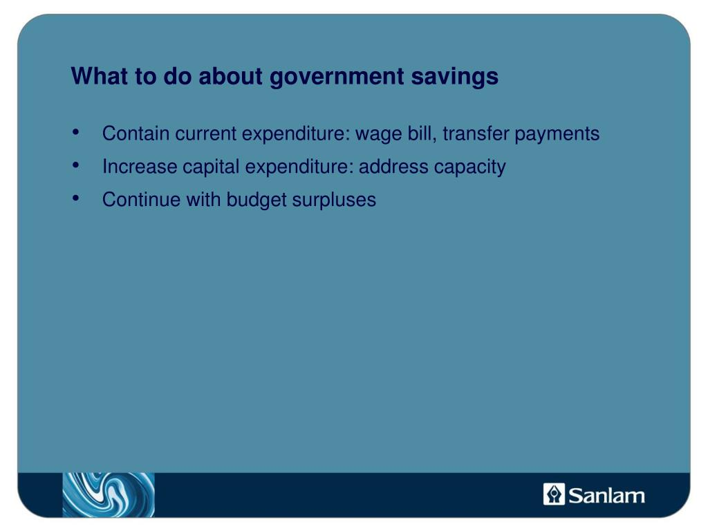 What to do about government savings