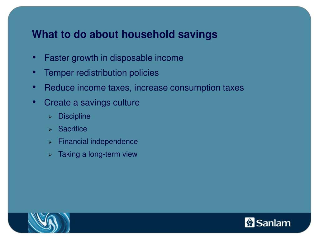 What to do about household savings