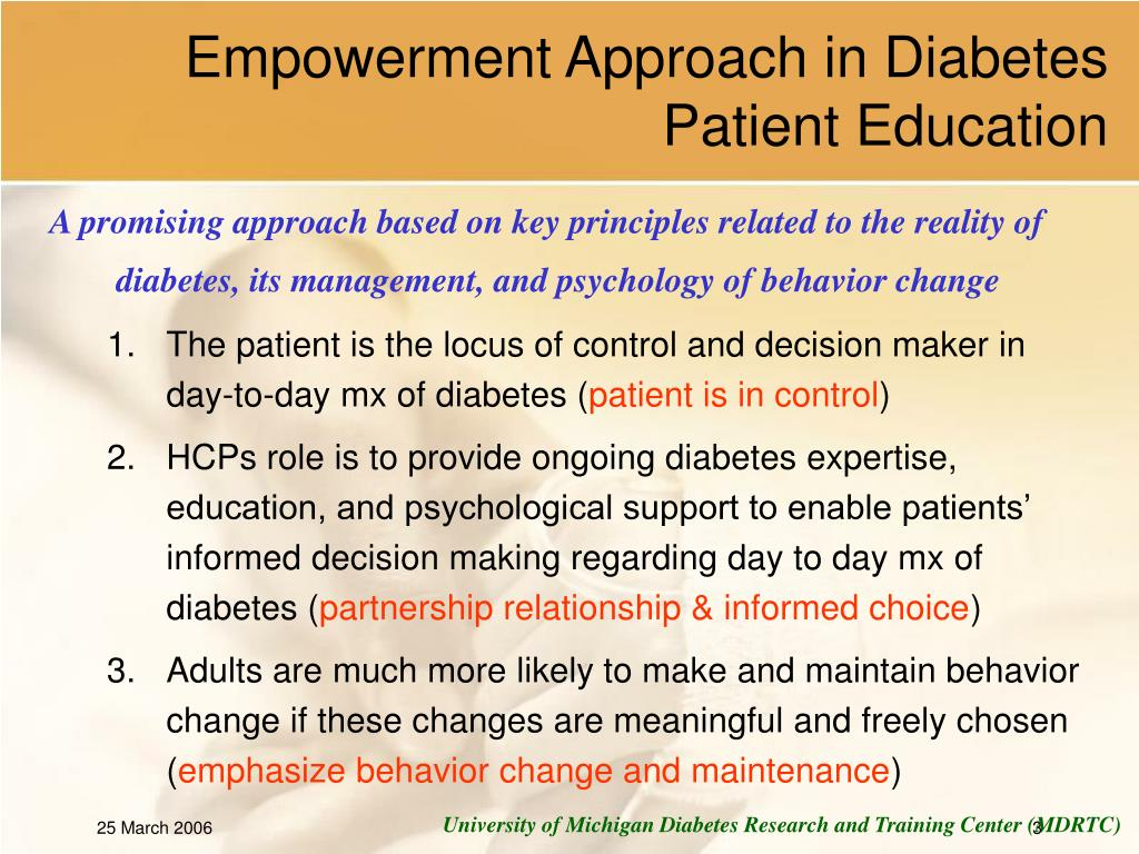 Empowerment Approach in Diabetes Patient Education