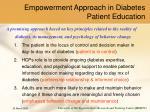 empowerment approach in diabetes patient education
