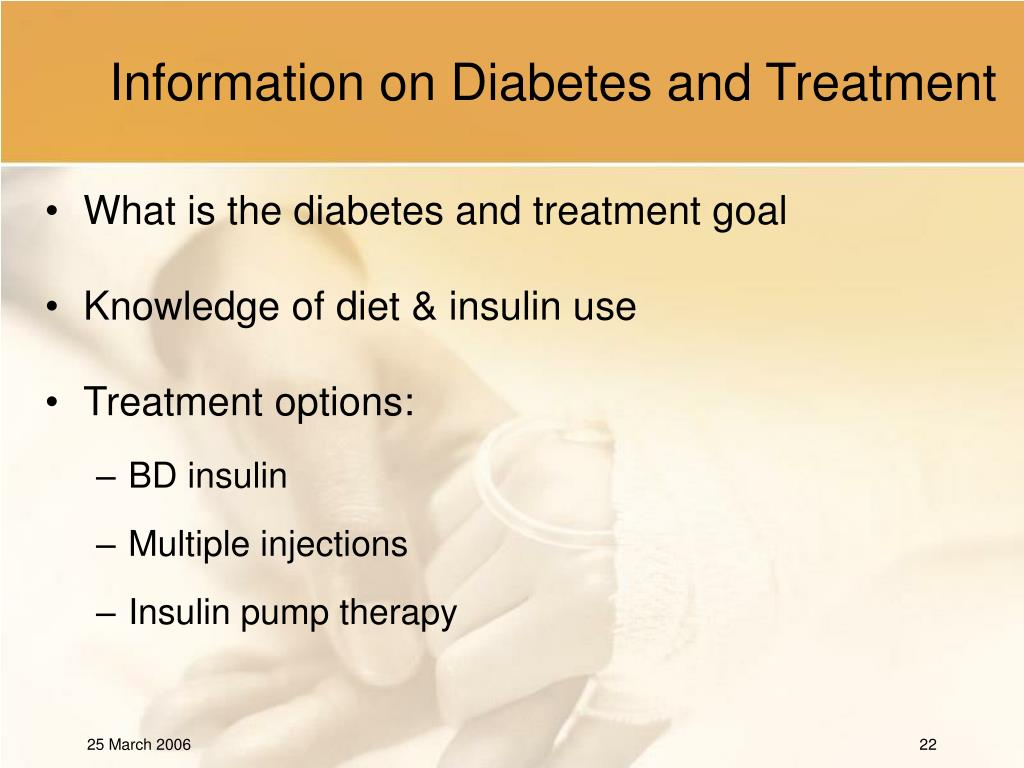 Information on Diabetes and Treatment