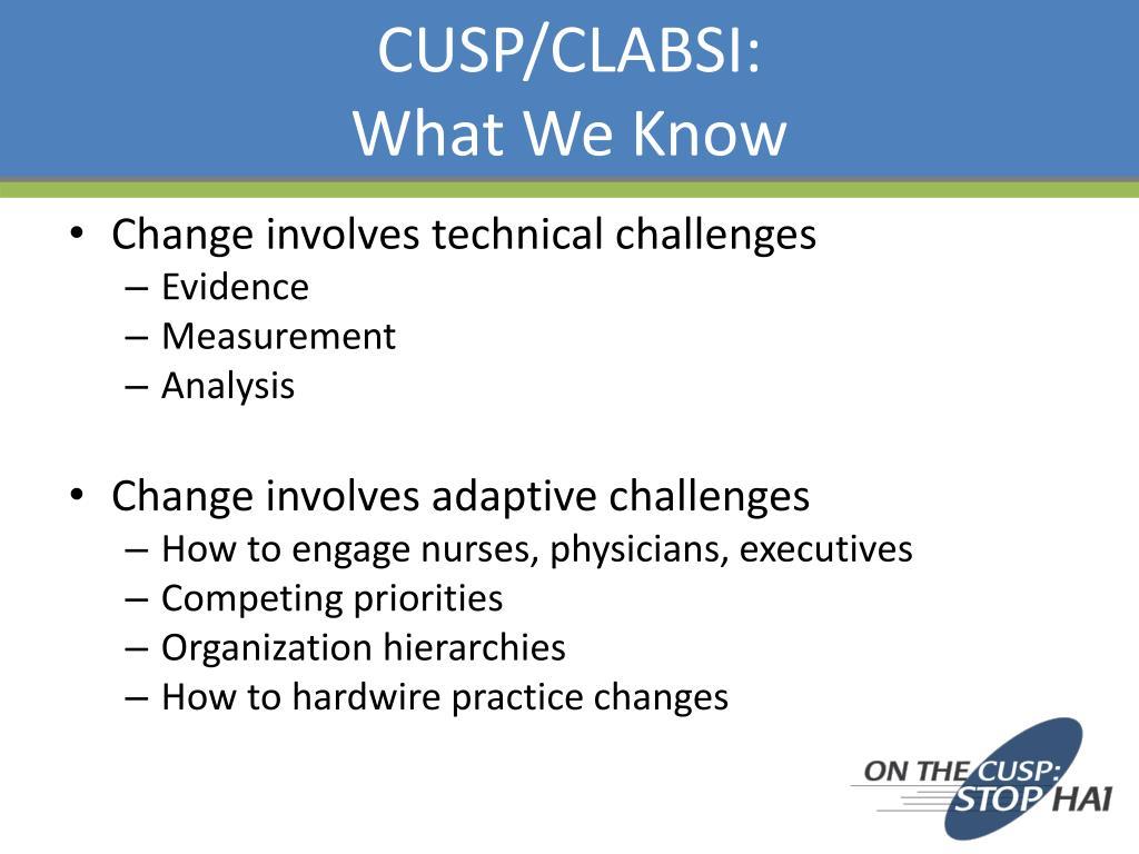 CUSP/CLABSI: