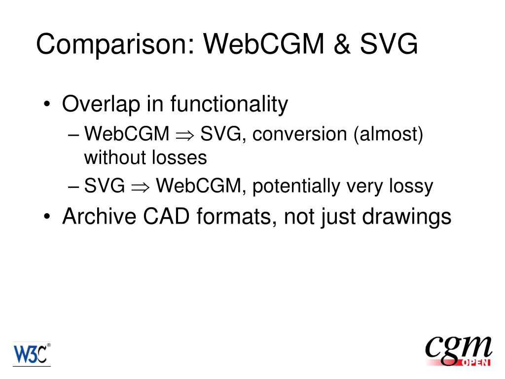 Comparison: WebCGM & SVG
