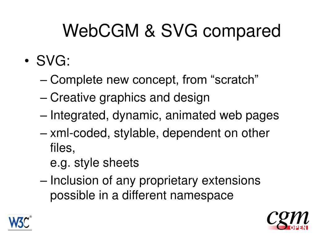 WebCGM & SVG compared
