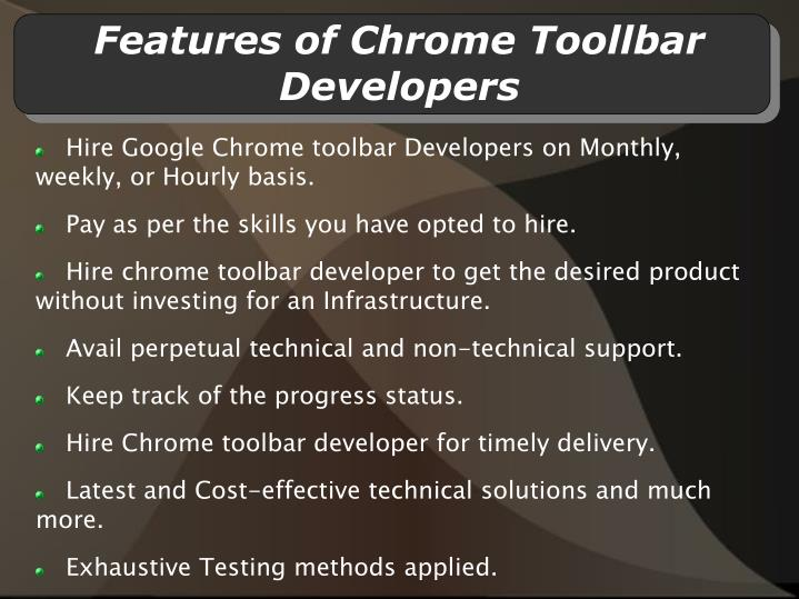 Features of chrome toollbar developers l.jpg