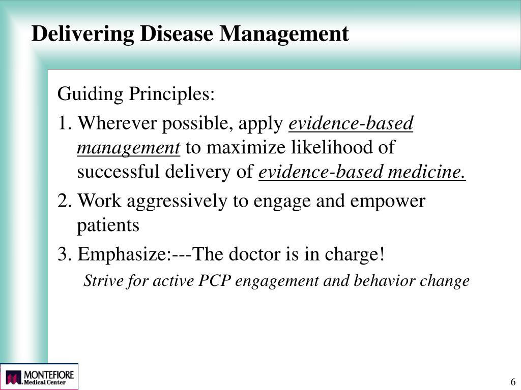 Delivering Disease Management