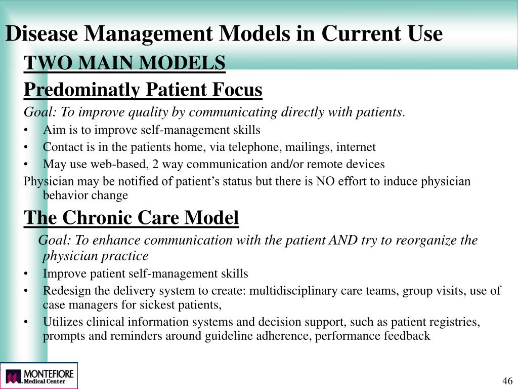 Disease Management Models in Current Use