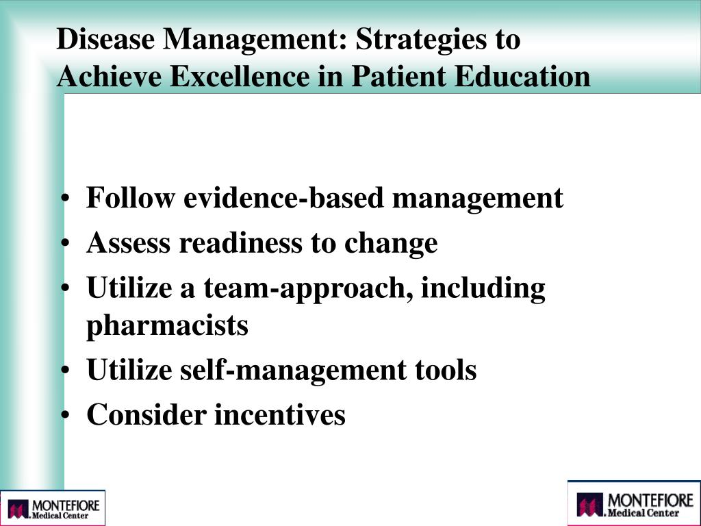 Disease Management: Strategies to Achieve Excellence in Patient Education