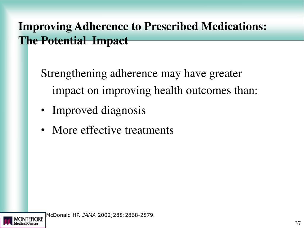 Improving Adherence to Prescribed Medications: