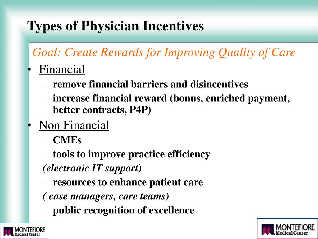 Types of Physician Incentives