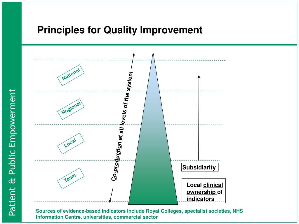 Principles for Quality Improvement