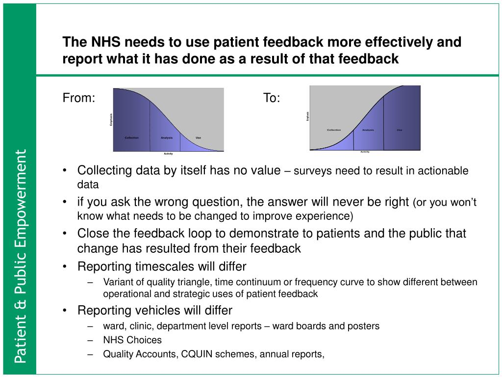 The NHS needs to use patient feedback more effectively and report what it has done as a result of that feedback