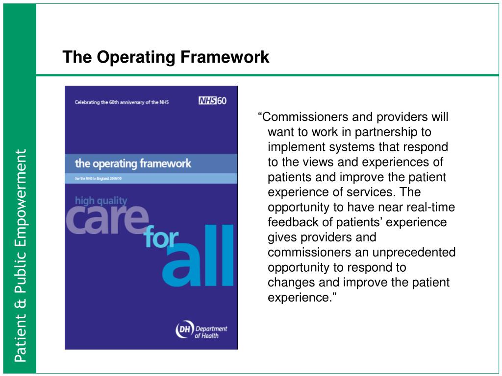 The Operating Framework