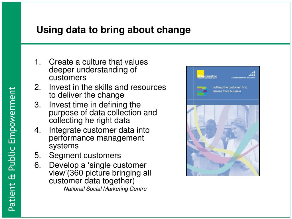 Using data to bring about change