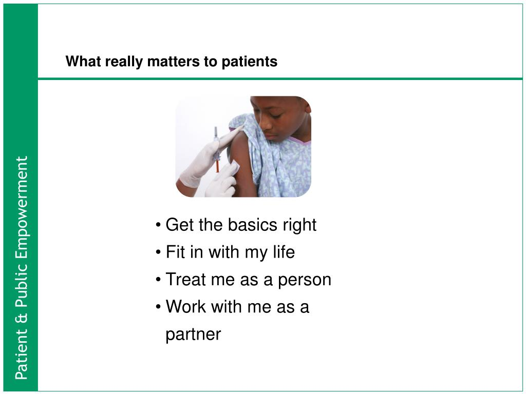 What really matters to patients
