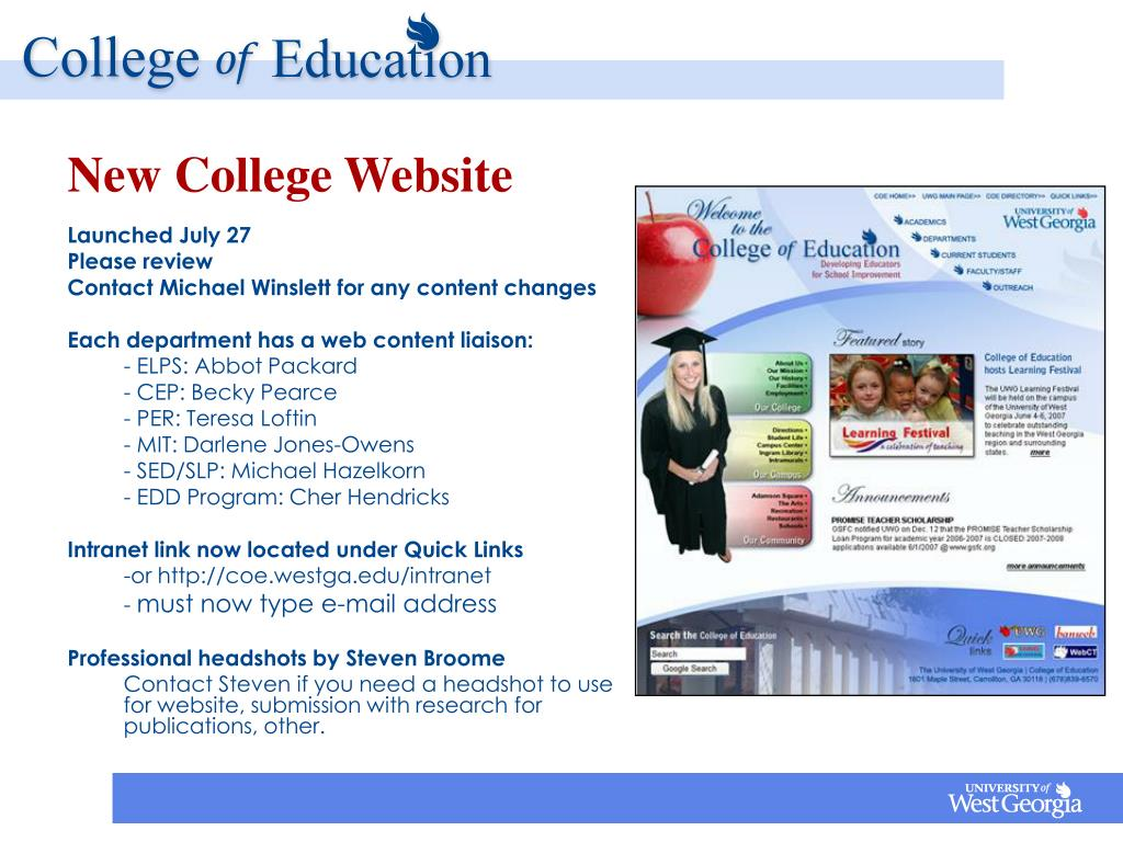 New College Website