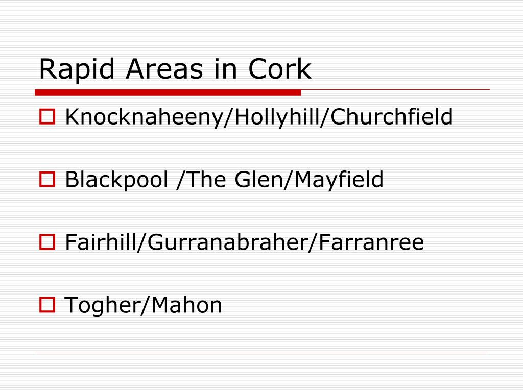 Rapid Areas in Cork
