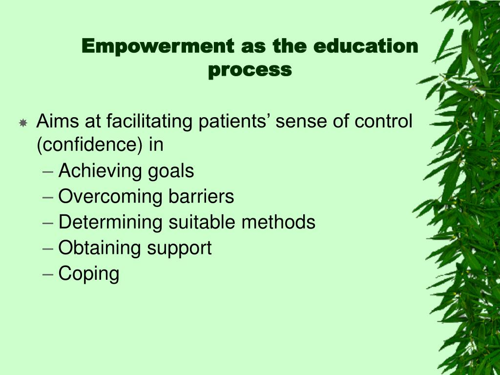Empowerment as the education process