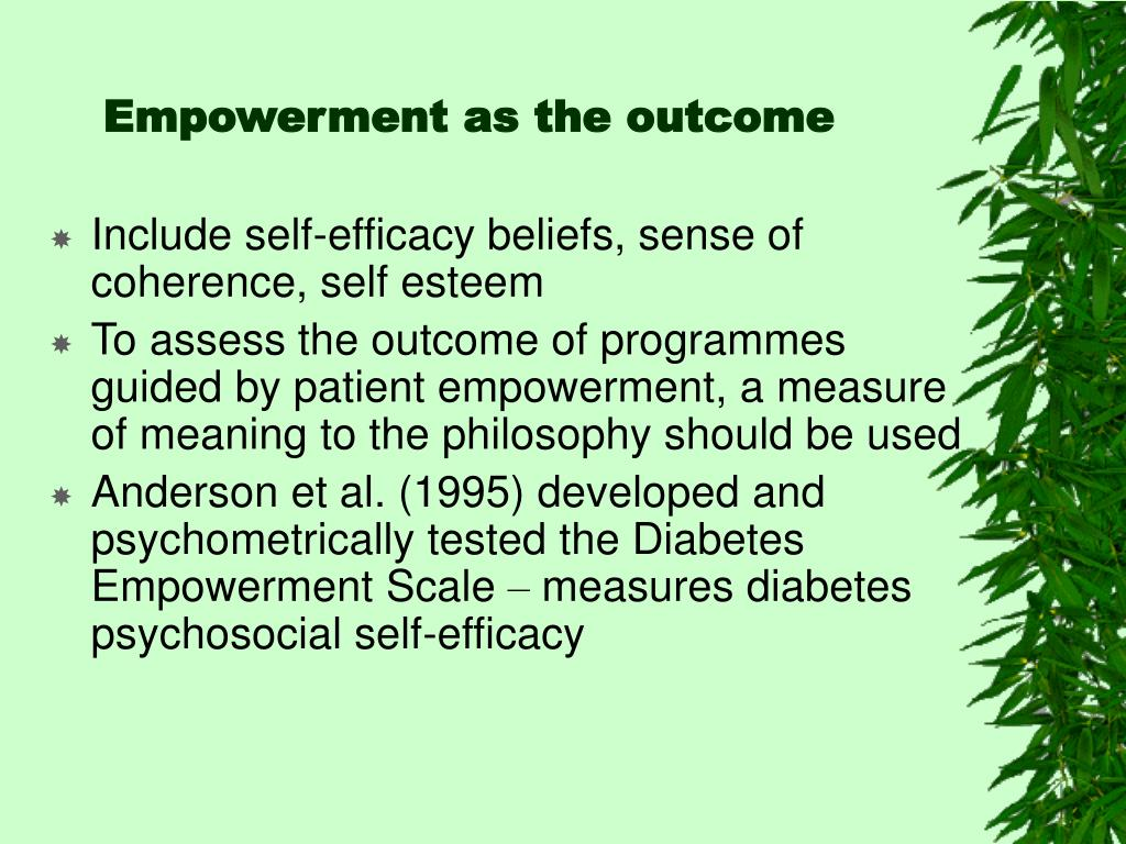 Empowerment as the outcome