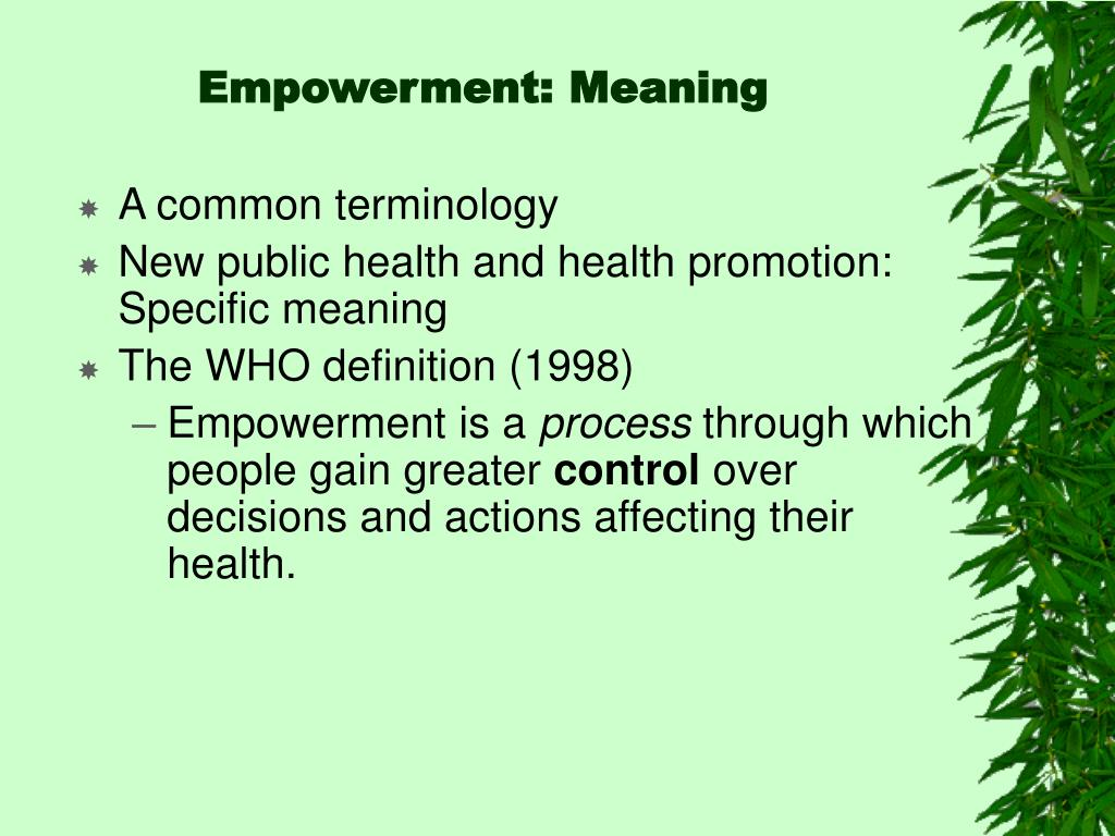 Empowerment: Meaning