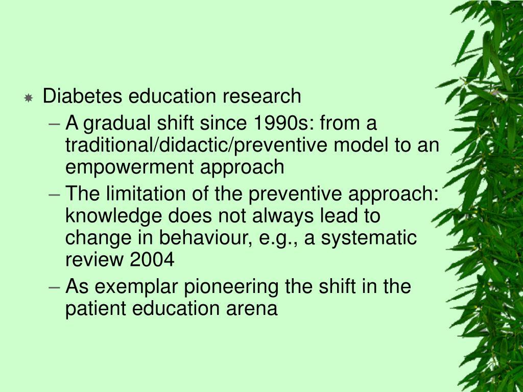 Diabetes education research