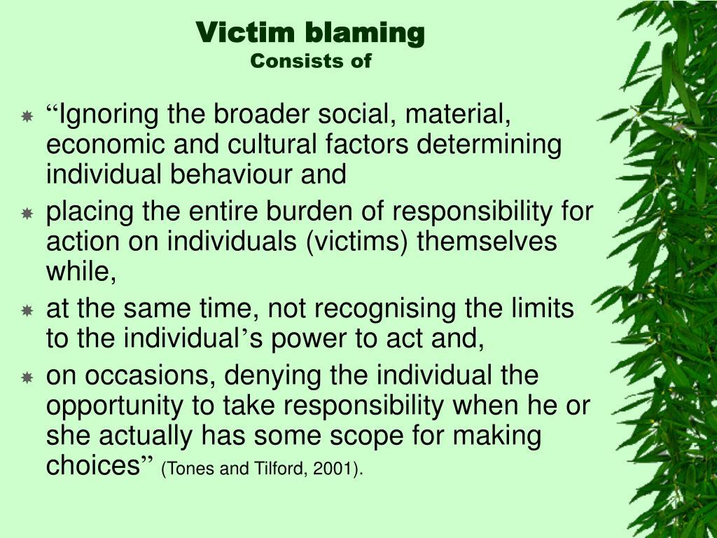 Victim blaming