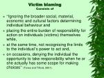 victim blaming consists of