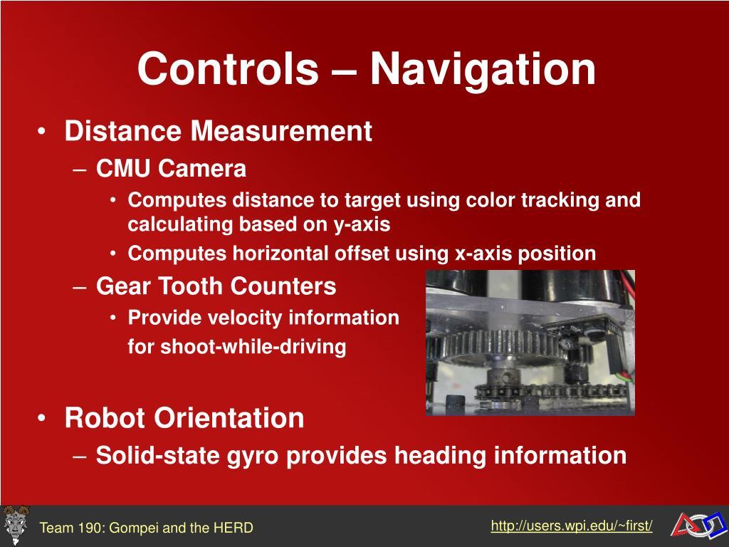 Controls – Navigation