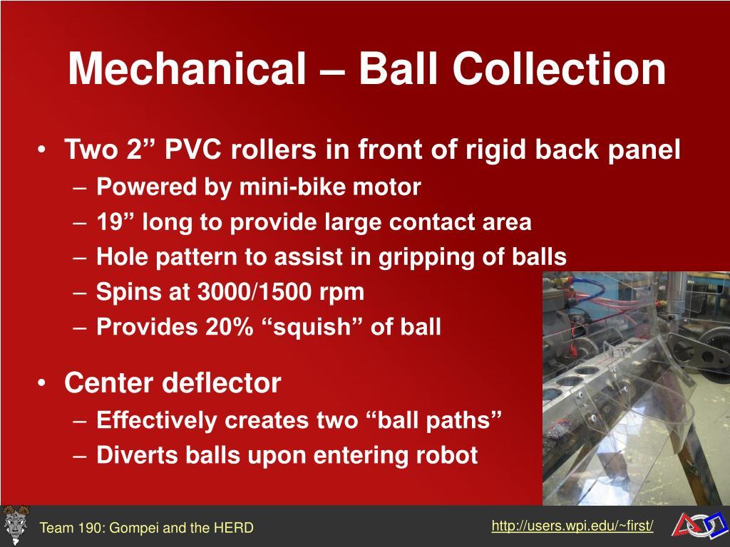Mechanical – Ball Collection