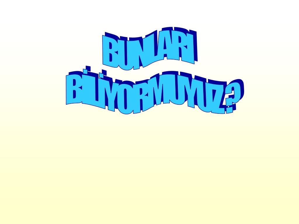 BUNLARI