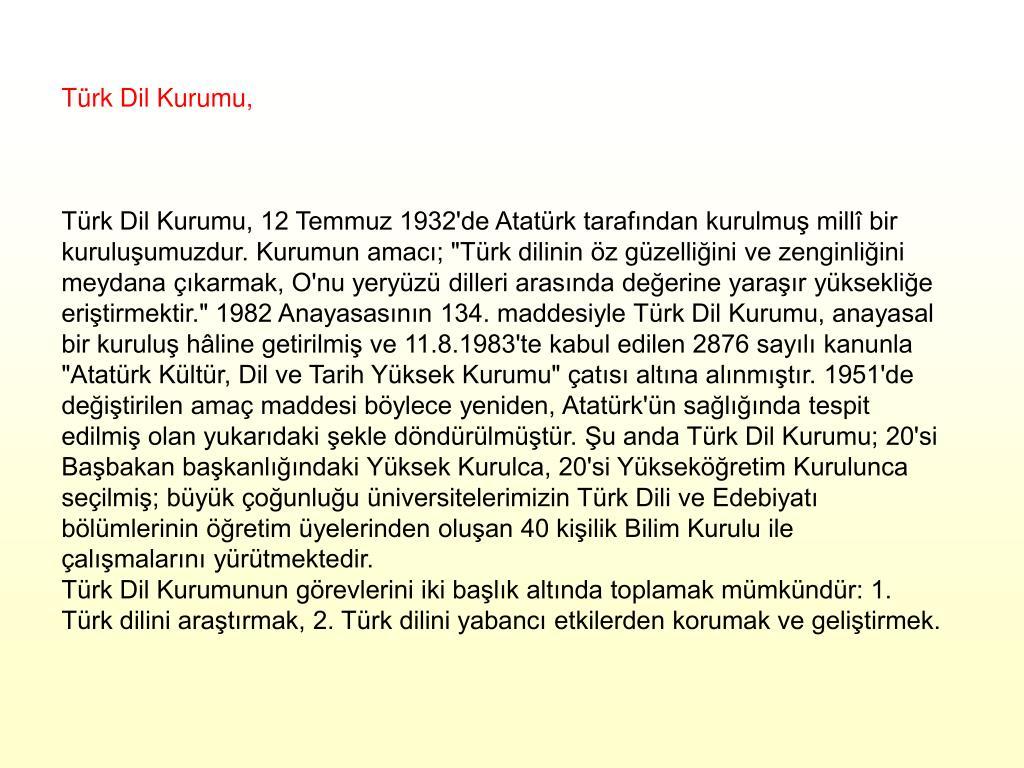 Türk Dil Kurumu,
