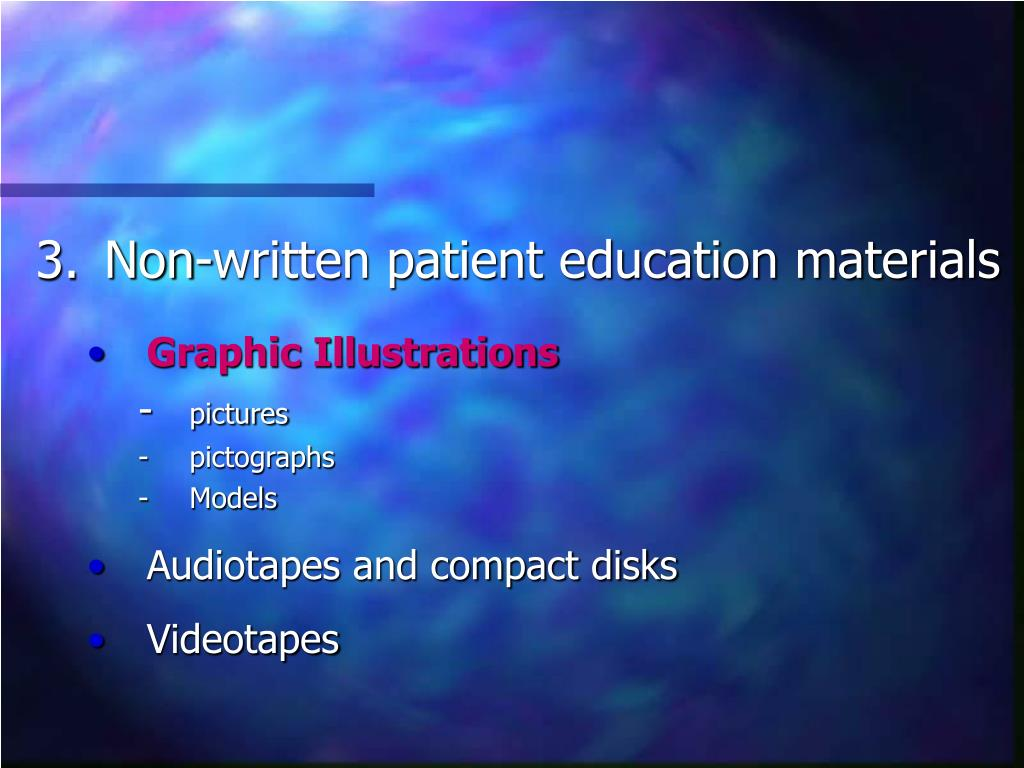 Non-written patient education materials